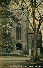 Salem Massachusetts~The North Church~Unitarian~Iron Fence~Stone Pillars~1912