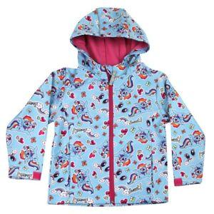 Girls My Little Pony Soft Shell Jacket Sizes 2-3 4-5 6-7 8-9 Years