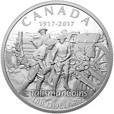 Canada 2017 World War I 1917 Battle of Vimy Ridge 10th $100 10 Oz Silver Proof