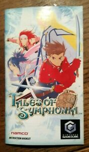Manual ONLY Tales Of Symphonia Instruction Booklet Only GAMECUBE