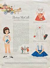Betsy McCall Mag. Paper Doll, Betsy Visits Colonial Williamsburg, Feb. 1960
