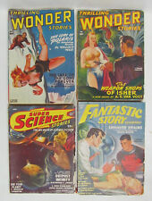 Thrilling Wonder Stories, Fantastic Story, Super Science, Sci Fi Magazine Lot VG
