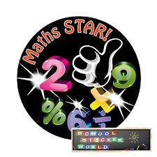 Teacher Reward Stickers 48  30mm School Maths Star Praise Well Done