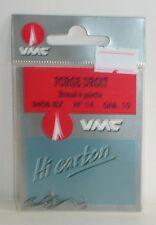 Hameçons VMC N°14 Forgé droit bronzé à palette par 10
