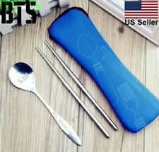 Kpop BTS Chopsticks Stainless Steel Chopsticks Spoon Set BTS Gift [US Seller]