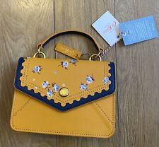 Cath Kidston THE WIMBOURNE DITSY MINI LEATHER BAG YELLOW RRP£125
