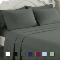 Egyptian Comfort 1800 Count 4 Piece Bed Sheet Set Deep Pocket Bed Sheets TO