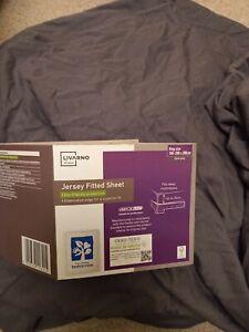 Grey KING Cotton Jersey Fitted Sheet - Up to 25cm Deep Mattress