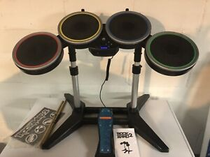 Wii Rockband 2 Harmonix  Drums # NWDMS2 with Pedal Sticks and game. No Dongle.