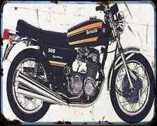 Benelli 500 Quattro 1 A4 Photo Print Motorbike Vintage Aged