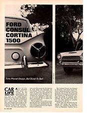 1963 FORD CONSUL CORTINA 1500  ~  ORIGINAL 4-PAGE ROAD TEST / ARTICLE / AD