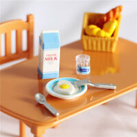 6x Dollhouse Miniature eggs and milk Toys Doll Food Kitchen Accessories YK