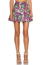 NWT- NBD Pink Floral Mini Skator Skirt- Size M- Retail 150