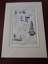 OPTICIAN OPTICAL  amazing mounted 1700s engraving equipment e  GIFT POTENTIAL