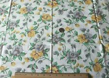 "Genuine Vintage c1938 Cotton Feedsack Fabric~Yellow Roses~L-22""X W-36"""