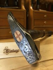 Vintage Gold Blacksmith Cross Peen Hammer Head Custom Engraving Sample Design