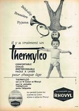 I- Publicité Advertising 1962 Vetements pour enfants Rhovyl