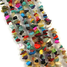 Lots 100Pc Mixed Precious Irregular Stone Tumble Chip Gemstone Charm Beads 5-9mm
