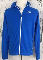 Helly Hansen Men's Bud Light Beer Blue Fleece Full Zip Jacket Size Large