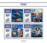 Togo Ships Stamps 2020 MNH Titanic Leonardo DiCaprio Boats Nautical 4v M/S