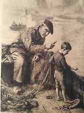 Alfred Guillou illustrateur estampe Bon petit mousse Bretagne Pêcheur Concarneau