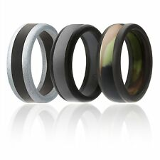 Silicone Wedding Ring Men Affordable Rubber Band Beveled Polished Power X Series