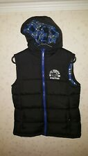 Boys Warm Hooded Lee Copper Padded Gilet Age 13 Yrs