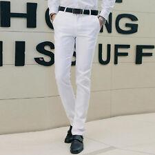 Mens Casual dress suit Pants Business Formal prom court office Slim Fit Trouser