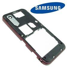Original Samsung S5230 Mittel Gehäuse Rahmen Backcover Rück Schale Cover Rot