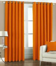 New Polyester 2 Piece Door Curtain Set - Orange, 4 x 7 ft