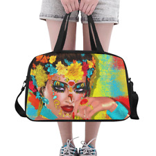 Awesome Overnight Duffle Bag Day of the Dead Skull  Flowers Weekender Travel Bag