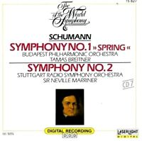 "Schumann: Symphonies Nos. 1 (""Spring"") & 2 (CD, Aug-1989, Laserlight) WORLD SHIP"