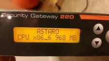 Firewall / Astaro Security Gateway 220 / Sophos UTM 220 / March 2010 / V. 8