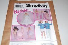 Simplicity VINTAGE Pattern # 8518 -  Fashion Barbie & Ken Doll Clothes - NEW