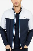 NAUTICA Men's Colorblocked Full-Zip Jacket Ture Navy Men's Size X-L