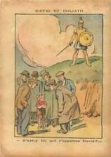 Caricature Politique David & Goliath France 1937 ILLUSTRATION