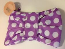 NEW Purple/White Polka Dot Bow Tie Zippered Pouch For Makeup, Pencils, Etc.