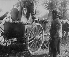 French soldiers cooking at a mobile field kitchen World War I 8x10 Photo