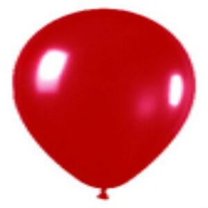 "100 CRYSTAL RED LATEX BALLOONS HELIUM GRADE 11"""