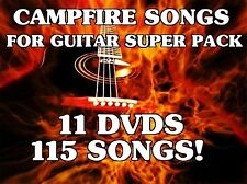 Campfire Songs For Guitar Volumes 1-10 DVD Lessons Learn 115 Songs AMAZING!
