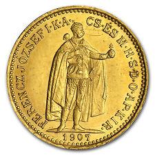 1892-1915 Hungary Gold 10 Korona Franz Joseph Avg Circ (Random) - SKU #29094
