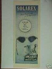 1946 SOLAREX SUN GLASSES protect your eyes print ad