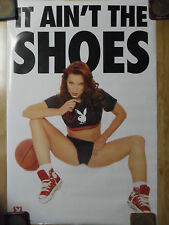 """Sexy Girl Dorm Poster Playboy Referee Red High Top Sneakers """"It Ain't The Shoes"""""""