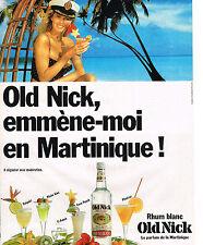PUBLICITE ADVERTISING   1988   OLD NICK   rhum