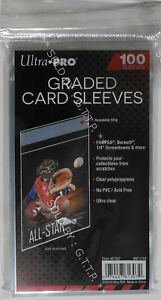ULTRA PRO - RESEALABLE GRADED CARD SLEEVES 100 PACK(X1)  - FREE UK P&P