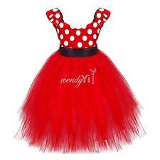 Kids Girls Baby Polka Dots Tutu Princess Bridesmaid Wedding Birthday Party Dress