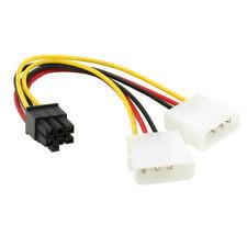 P32 PCIe 6pin su 2x 4 Pin Molex Scheda Grafica Cavo di alimentazione alimentazione PCIe cavo adattatore