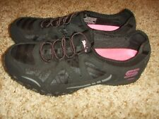 Skechers 22406R Black Pink Bikers Womens Size 7.5