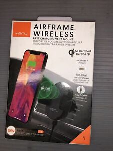 Kenu Airframe Wireless Fast Qi Charging Vent Mount - Black