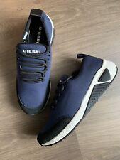 New Diesel Low Cut Navy Textile Trainers Shoes Size UK 7 EU 40